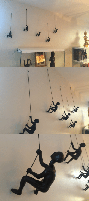 handmadegift-ideas:    5 Piece Climbing Sculpture Wall Art      This is a beautiful high end wall art for your home decor. Climbing man wall art made out of solid resin material. Make your house decor stand out of the ordinary with these amazing climbing wall man.    : handmadegift-ideas:    5 Piece Climbing Sculpture Wall Art      This is a beautiful high end wall art for your home decor. Climbing man wall art made out of solid resin material. Make your house decor stand out of the ordinary with these amazing climbing wall man.