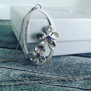 Tumblr, Blog, and Etsy: handmadegift-ideas:    Dual flowers 925 sterling silver pendants Necklaces filled with cold enemal personal preferance pendants Necklaces   Levona Jewelry