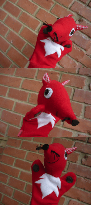 "Cute, Love, and Tumblr: handmadegift-ideas:    Handmade Red Fox Plush Hand Puppet     Handmade red fox plush Zsömpi hand puppet from felt. It has button eyes and nose, cute checkered ears and whiskers.Each Zsömpi I make with lots of love and they all have a different expression and ""personality"" :)"