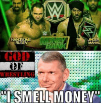 Memes, Money, and Wrestling: HANDSOME  RUSEV  WRESTLING Vince smells money, imagine this we went from Kurt angle vs Brock Lesnar to mahal vs rusev prowrestling professionalwrestling wwe wweraw wwenxt wweuniverse wweuniversalchampionship wwesuperstars wwewrestling wweworldheavyweightchampion wwenetwork wwememes wwefunny wwebacklash brocklesnar braunstrowman ajstyles wrestle wrestler wrestlers wrestling wrestlingmemes worldwrestlingfederation worldwrestlingentertainment