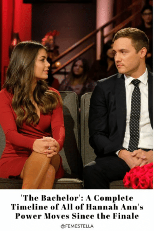 Hannah Ann Suss is straight-up THRIVING.This queen got her heart broken by arguably the world's least favorite Bachelor lead ever. But not only did she completely drag Peter Weber for his cowardly, dishonest behavior and become our hero, but now she's out here truly living her best life.She's hard to keep up with, so here's a breakdown of everything she's been up to and the tea she's spilled since The Bachelor finale.Read it here: Hannah Ann Suss is straight-up THRIVING.This queen got her heart broken by arguably the world's least favorite Bachelor lead ever. But not only did she completely drag Peter Weber for his cowardly, dishonest behavior and become our hero, but now she's out here truly living her best life.She's hard to keep up with, so here's a breakdown of everything she's been up to and the tea she's spilled since The Bachelor finale.Read it here