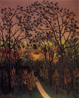 dappledwithshadow:  A Corner of the Plateau of BellevueHenri Rousseau 1901-1902Rhode Island School of Design Museum of Art (United States)	Painting - oil on canvas : Hant f dappledwithshadow:  A Corner of the Plateau of BellevueHenri Rousseau 1901-1902Rhode Island School of Design Museum of Art (United States)	Painting - oil on canvas