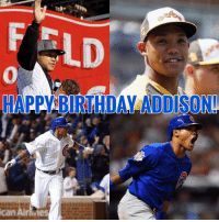 Happy Birthday to Cubs SS, @addison_russell !! cubs mlb worldserieschamps flythew letsgo happybirthday addy: HAPEABIRTHDAL ADDISON!  CanAirfines Happy Birthday to Cubs SS, @addison_russell !! cubs mlb worldserieschamps flythew letsgo happybirthday addy