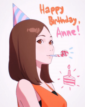 Birthday, Dank, and Today: Happ  Braday  Anne Today is the birthday of Anne Watanabe, voice of Chii in Birthday Wonderland!✨