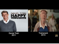 Amy Schumer, Ellen DeGeneres, and Ellen: HAPP  THOUGHTS  Daniel Toslh  2011  Trainwreck  2015 <p>Some wonderful person put together a master collection of the jokes that Amy Schumer has stolen from other comedians. Some of these might just be coincidence, but all of them? Highly doubtful. At 9:55 you can watch her steal a joke from Ellen DeGeneres and then <i>USE IT ON THE ELLEN SHOW.</i> At one point Tammy Pescatelli tweets that Amy took a lot of her (Tammy's) material from when she was Tammy's opening act. </p>  <p>Just your daily reminder that Amy Schumer is a general atrocity of a human being and a disgrace to her craft.</p>