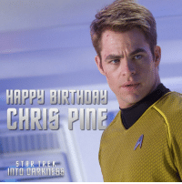 Birthday, Memes, and Happy Birthday: HAPPH BIRTHDA  CHRIS  TAR TREK  IITO DARKNEEE Wishing our captain ChrisPine a happy birthday!