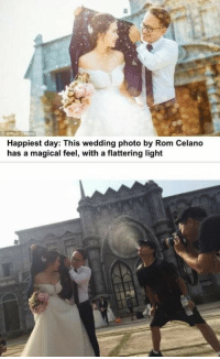 Wedding, Human, and Light: Happiest day: This wedding photo by Rom Celano  has a magical feel, with a flattering light <p>Damn, you know who I&rsquo;m hiring for my wedding: a professional human whale</p>