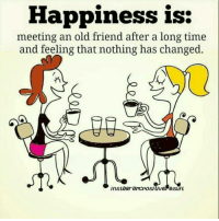 Memes, 🤖, and Soulmate: Happiness is:  meeting an old friend after a long time  and feeling that nothing has changed.  insta Gram positive eSUlt Tag someone Check out all of my prior posts⤵🔝 Positiveresult positive positivequotes positivity life motivation motivational love lovequotes relationship lover hug heart quotes positivequote positivevibes kiss king soulmate girl boy friendship