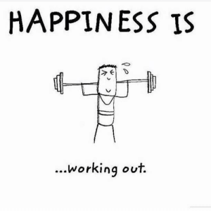 Working Out, Happiness, and Simple: HAPPINESS IS  working out  ... Simple.
