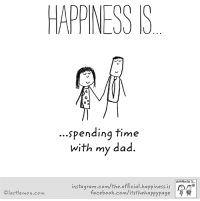 Happiness: HAPPINESS S  spending time  with my dad.  HAPPINESS IS...  instagram.com/the official happiness is  facebook.com/itsthehappypage  lastlemon.com