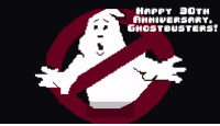"""Get slimed in 8-bit for the 30th anniversary of """"Ghostbusters."""" http://goo.gl/Yq9xjA: HAPPY 01TH  ANNIVERSARYO  GHOSTBUSTERS? Get slimed in 8-bit for the 30th anniversary of """"Ghostbusters."""" http://goo.gl/Yq9xjA"""