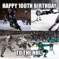 The NHL was founded 100 years ago today at the Windsor Hotel in Montreal. Thanks for the unforgettable memories and moments @NHL: HAPPY 100TH BIRTHDAY  @nhl ref logic  EIcd  TOTHENHL The NHL was founded 100 years ago today at the Windsor Hotel in Montreal. Thanks for the unforgettable memories and moments @NHL