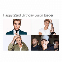 Happy 22nd Birthday Justin Bieber I hope I'll meet him by the time I'm 23-28