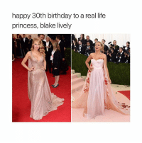 a queen: happy 30th birthday to a real life  princess, blake lively a queen