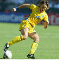 Fifa, Memes, and Euro: Happy 38th birthday to Hanna Ljungberg! During a glittering career between 1996 and 2008, the gifted @swewnt striker earned 130 caps and scored an impressive 72 goals. Ljungberg made her Sweden debut aged just 17 and went on to collect runners-up medals at the UEFA Women's EURO and FIFA Women's World Cup in 2001 and 2003 respectively, as well as the award for Sweden's Player of the Year in 2002. HappyBirthday Ljungberg Sweden FIFAWWC