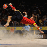 Adidas, Fifa, and Memes: Happy 39th birthday to Amarelle! He has participated in four FIFA Beach Soccer World Cups with Spain, earning the adidas Golden Ball award and finishing second in the race for the adidas Golden Shoe in 2008. At continental level, the forward has propelled the Spaniards to several major honours, and has been named Europe's Player of the Year numerous times. HappyBirthday FelizCumpleaños Amarelle Spain BeachSoccer FIFABeachSoccer FIFABeachSoccer2016 @sefutbol @ramiroamarelle