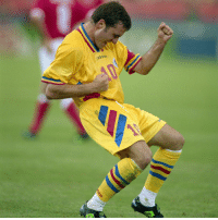 Memes, Fifa World Cup, and Romania: Happy 52nd birthday to Gheorghe Hagi! The seven-time Romanian Footballer of the Year boasted an impressive eye for goal during his career, putting in match-winning performances at three FIFA World Cups: Italy 1990, USA 1994 (where his nation reached the quarter-finals) and France 1998. The graceful attacking midfielder also competed at the UEFA European Championships of 1984, 1996 and 2000. HappyBirthday Hagi Romania WorldCup Comandante Regele MaradonaoftheCarpathians legend @echipanationala @realmadrid @brescia_calcio @fcbarcelona @galatasaray