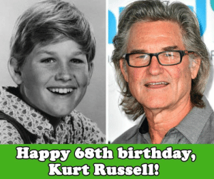 Happy birthday to Kurt Russell! We watched him grow up, in the movies and TV. What are some of your favorite Kurt Russell roles?: Happy 68th birthday,  Kurt Russel1 Happy birthday to Kurt Russell! We watched him grow up, in the movies and TV. What are some of your favorite Kurt Russell roles?