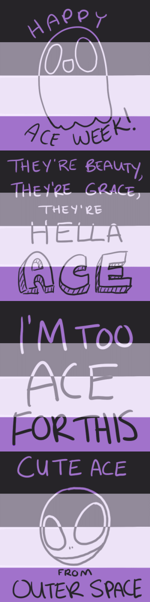 graysea:  Happy ace week!!Feel free to use as icons, just credit back if you do! : HAPPY  9CE WEEK   THEY'RE BEAUTY  THEY'RE GRACE  THEY'RE  HELLA  AGE   I'M TOO  ACE  FORTHIS   CUTE ACE  FROM  OUTER SPACE graysea:  Happy ace week!!Feel free to use as icons, just credit back if you do!