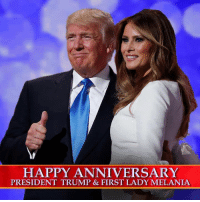 Happy 12th wedding anniversary to the first couple!: HAPPY ANNIVERSARY  PRESIDENT TRUMP & FIRST LADY MELANIA Happy 12th wedding anniversary to the first couple!