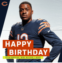 Join us in wishing @ChicagoBears WR @AllenRobinson a HAPPY BIRTHDAY! 🐻🎂 https://t.co/YWep2BcWDc: HAPPY  BIRTHDAY  ALLEN ROBINSON/ WIDE RECEIVER/ BEA RS Join us in wishing @ChicagoBears WR @AllenRobinson a HAPPY BIRTHDAY! 🐻🎂 https://t.co/YWep2BcWDc