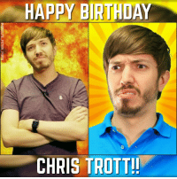 Happy birthday to one of my favourite people on YouTube, the hilarious Chris Trott of Hat Films!!! - I highly recommend you check them out if you like comedy especially crude humour 😂😂 ⚋⚋⚋⚋⚋⚋⚋⚋⚋⚋⚋⚋⚋⚋⚋⚋⚋⚋ absolute happybirthday christrott trottimus hatfilms youtube yogscast british marvel dc nerd geek comics instagood follow4follow artwork follow fun photooftheday instalike like4like awesome: HAPPY BIRTHDAY  CHRIS TROTT!! Happy birthday to one of my favourite people on YouTube, the hilarious Chris Trott of Hat Films!!! - I highly recommend you check them out if you like comedy especially crude humour 😂😂 ⚋⚋⚋⚋⚋⚋⚋⚋⚋⚋⚋⚋⚋⚋⚋⚋⚋⚋ absolute happybirthday christrott trottimus hatfilms youtube yogscast british marvel dc nerd geek comics instagood follow4follow artwork follow fun photooftheday instalike like4like awesome