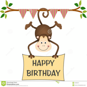 Happy Birthday Monkey Clipart: HAPPY  BIRTHDAY  Download from  Dreamstime.com  ID 46486247  Socris l Dreamstime.com  This watermarked comp image is for previewing purposes only Happy Birthday Monkey Clipart