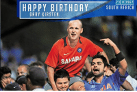 Gary Kirsten, the former South African cricketer turns 49 today. Wishing him a very happy birthday.: HAPPY BIRTHDAY  GARY KIRSTEN  SAMARA  2311 1967  SOUTH AFRICA Gary Kirsten, the former South African cricketer turns 49 today. Wishing him a very happy birthday.