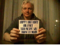 Hahahaha!!  ~ Always Out Front ~ A Revolutionary Act: HAPPY BIRTHDAY  HILLARY  YOUR PRESENT WILl  ARRIVE BY NOON Hahahaha!!  ~ Always Out Front ~ A Revolutionary Act