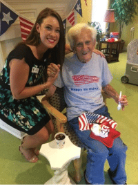 Birthday, Happy Birthday, and Thank You: Happy Birthday It's World War II Veteran Ernest Blanchet's 105th Birthday!  Happy birthday Sir, and thank you for your service!