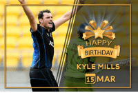 Memes, New Zealand, and Pacer: HAPPY  BIRTHDAY  KYLE MILLS  15 MAR Happy birthday Kyle Mills, former New Zealand pacer turns 38 today