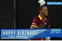 World T20 hero Lendl Simmons is celebrating his 32nd birthday today.: HAPPY BIRTHDAY  LENDL SIMMONS  OcRICTRACKER  25011985  WEST INDIES World T20 hero Lendl Simmons is celebrating his 32nd birthday today.