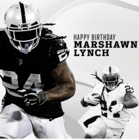 BEASTMODE BIRTHDAY.  Happy 32nd Birthday to @MoneyLynch! 🎉 https://t.co/7GNvOUaUUD: HAPPY BIRTHDAY  MARSHAWN  LYNCH BEASTMODE BIRTHDAY.  Happy 32nd Birthday to @MoneyLynch! 🎉 https://t.co/7GNvOUaUUD