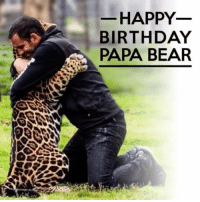 Birthday, Love, and Memes: HAPPY  BIRTHDAY  PAPA BEAR HAPPY BIRTHDAY EDDIE! Sending you all my love, birthday wishes and happiness to you today. You are truly a gift, an incredible human, an inspiration, a dreamer, a man who is changing the world, one rescued being at a time. Thank you for sharing so many incredible moments with your kids, you are such an inspiration, and may this day, and many more to come be filled with nothing but love and laughter 💛 ItsAllForLove BlackJaguarWhiteTiger HappyBirthdayPapaBear BeHuman SaveOurPlanet HappyBirthday SaveLions SaveTigers SaveJaguars @blackjaguarwhitetiger
