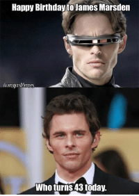 ~Deadpool: Happy Birthday to James Marsden  Avengers Meme  Who turns 43 today. ~Deadpool