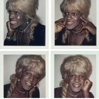 Birthday, Memes, and Happy Birthday: Happy birthday to Marsha P. Johnson, one of the most revolutionary leaders of queer and trans liberation. 📷: Andy Warhol Repost @womensmarch . . . [IMAGE DESCRIPTION: A series of four vintage Polaroid portraits of Marsha P. Johnson.]