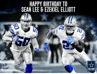 Two 1st team all-pro players. Same birthday. Today is a good day to be born.  Happy Birthday to Sean Lee & Ezekiel Elliott! 🎉🎈🎂: HAPPY BIRTHDAY TO  SEAN LEE & EZEKIEL ELLIOTT  PRO SHOP Two 1st team all-pro players. Same birthday. Today is a good day to be born.  Happy Birthday to Sean Lee & Ezekiel Elliott! 🎉🎈🎂