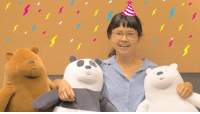 Happy Birthday to the adorable @Charlyne_Yi, voice of Chloe and Ruby! 🍰🎈🎁: Happy Birthday to the adorable @Charlyne_Yi, voice of Chloe and Ruby! 🍰🎈🎁