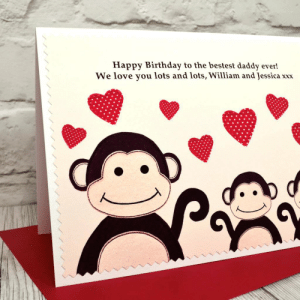Monkey Birthday Happy Monkey Happy Birthday Monkey Dancing Happy ...: Happy Birthday to the bestest daddy ever!  We love you lots and lots, William and Jessica  XXX Monkey Birthday Happy Monkey Happy Birthday Monkey Dancing Happy ...