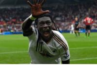 Happy birthday to the man with the scariest celebration of all time, Bafétimbi Gomis.  ⚪️⚽️😨: Happy birthday to the man with the scariest celebration of all time, Bafétimbi Gomis.  ⚪️⚽️😨