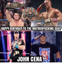 """Happy Birthday to my hero, John Cena ♥️ He turned 40 today, and I find that fucking crazy, because Cena was the one who got me into wrestling as a child. I've been watching all my life because my dad had it on all the time when I was growing up, but the farthest I can remember back to when I was about 3 or 4 and the first person I ever saw on wrestling was John Cena, and from that moment on, I fell in love with Cena and wrestling. Growing up I literally had everything of Cena's, the hats, the wristbands, the headbands, the t-shirts, the chains, the jorts, the action figures and toys, the blankets, etc. Hell, I even dressed up as him for Halloween like 3 times 😂 Basically Cena was my childhood hero and he honestly made my entire childhood. And I'll always remember the first time I saw him wrestle live back in 2008, I bought his t-shirt and threw it on so I could wear it the rest of the show, but I remember he teamed with Batista and faced Randy Orton, Cody Rhodes, and Manu 😂 I cheered for him the whole time and when he won, I exploded with happiness. But yeah, Cena is the reason why I love wrestling so much and the reason why I aspire to become a professional wrestler one day. I have the upmost respect for Cena and can't thank him enough. I hope to one meet him, and if I'm lucky enough, maybe get to wrestle him, but that be a little too out of the ball park. And even if you're not a Cena fan, you have to respect the living hell out of him ♥️ And I will admit, I still """"Let's Go Cena"""" at wrestling events 😂 And I might get some hate for posting this, I don't give a fuck, I fucking love John Cena. But again, happy 40th birthday to the GOAT, John Felix Anthony Cena 🙌 Hopefully he's having a good birthday right now, and is getting that birthday sex from Nikki 😂🤘 @johncena kevinowens chrisjericho romanreigns braunstrowman sethrollins ajstyles deanambrose randyorton braywyatt jindermahal thehardyboyz charlotte shinsukenakamura samizayn johncena sashabanks brocklesnar goldber"""