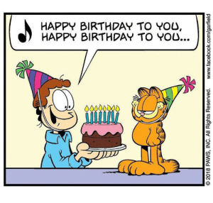Birthday, Facebook, and Happy Birthday: HAPPY BIRTHDAY TO YOU,  HAPPY BIRTHDAY TO YOU...  00000DO0  O 2018 PAWS, INC. All Rights Reserved.  www.facebook.com/garfield May we take a moment out of our days to recognize Garfield's Birthday? Please and thank you 🍰