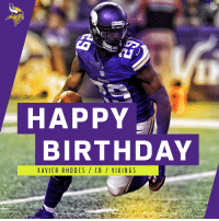 Happy Birthday Xavier Rhodes B Vikings Happy Birthday To 2x Pro Bowl