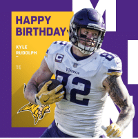 Birthday, Memes, and Happy: HAPPY  BIRTHDAYNS  KYLE  RUDOLPH  TE  Va  IKInGS Happy 29th Birthday to @Vikings TE @KyleRudolph82! 🎉 https://t.co/DjvqRSfC4y