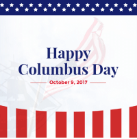 Happy, Http, and Christopher Columbus: Happy  Columbus Day  October 9, 2017 525 years ago, Christopher Columbus completed a remarkable voyage to the Americas, launching a new era of exploration and discovery. Happy Columbus Day! http://bit.ly/2y5p0OE