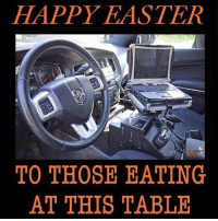 cag: HAPPY EASTER  CAG  TO THOSE EATING  AT THIS TABLE