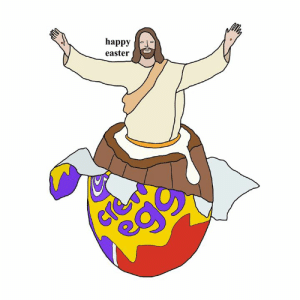 Dank, Easter, and Love: happy  easter happy easter. love from your friend Chris (Simpsons artist) xox