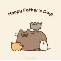 Happy Father's Day to all those awesome cat dads out there.: Happy Father,  D  ayu  Pusheen com Happy Father's Day to all those awesome cat dads out there.