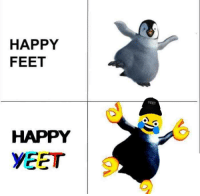 HAPPY  FEET  YEET  6  HAPPY  YEET 9 Get Yeet up from the feet up by clicking the meme below   — Products shown: Yeet Black Dad Hat.