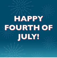 Wishing everyone a happy Fourth of July today! 🎆: HAPPY  FOURTH OF  JULY! Wishing everyone a happy Fourth of July today! 🎆